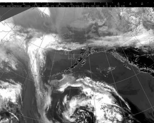 Alaska infrared image